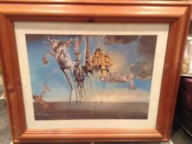 Collection of Salvador Dali prints in frames