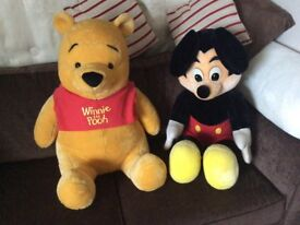 Disney world Mickey Mouse and Winnie the Pooh.