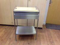 IKEA KITCHEN TROLLEY. STAINLESS STEEL