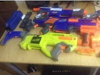 A bunch of fully working Nerf guns