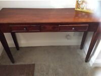 Lovely dark wood hall console table or desk