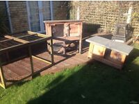 Couple of rabbit / Guinea Pig / Small Furry Rodent Hutches. £20 each.