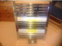 New and boxed Chrome Towel Radiator flat square designer 800x600