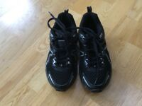 Karrimor black and silver running shoes size 2