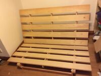 1 Ikea futon frame in good order, Pine, dimensions 1.4m x 2m.