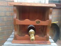Vintage Pine Wine Rack - Counter Top - 1938 One Penny Coin