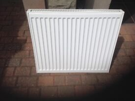 Purmo double radiator 700x600x70 excellent condition with original wall brackets