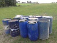 Plastic/steel storage barrels