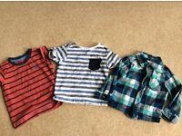 BOYS 12-18 months tshirts and shirts matalan george m&co