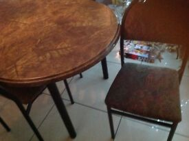 Marble effect dining table and 6 chairs
