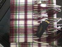 Dunoon clan 100% cashmere tartan weaver Mill scarf