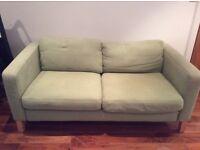 IKEA 2 Seater Lime Green Fabric Sofa