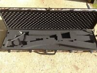 Shooting solid gun case with wheels camouflage