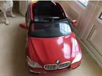 Kids Red BMW Electric Car with Charger