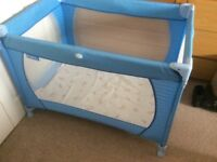 Travel cot with integral mattress. Easily portable. Excellent condition.