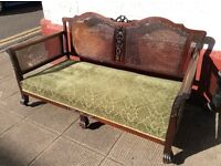 Antique Bergere Sofa and 2 armchairs : Free Glasgow delivery