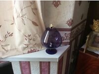 Retro brandy glass with cat&a mouse good condition buyer to collect