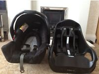 Graco junior baby car seat and base
