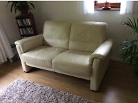 2 x two seater sofas and 1 foot stool