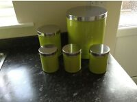 Tea, Coffee, Sugar, Bread & Biscuit Storage Tins