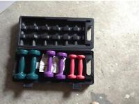 Set of dumb bells ( ladies )