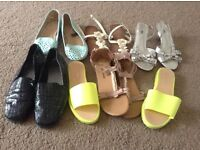 Assortment of Ladies shoes, all size 6.