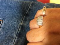 18 ct diamond cluster ring