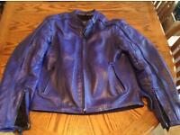 Men's Frank Thomas motorcycle leather jacket- large