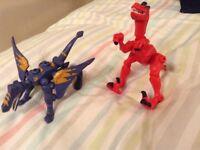 Marvel Hero and Dinosaur mashers