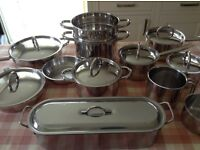 Professional stainless steel 20 pieces of cookware