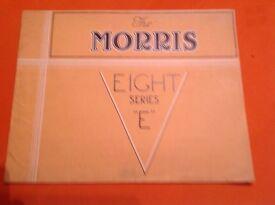 The MORRIS Eight series E car sales brochure . August 1945.