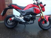 Honda MSX125 A-H ABS. 67 reg with 43 miles on the clock (REDUCED) SAVE £800 ON NEW PRICE