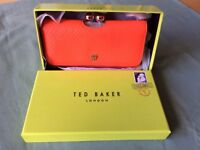 Ted Baker Orange Snake Skin Purse