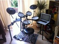 Roland TD4 KX Electronic Drums - Inc Gibraltar Kick Pedal, Stool & Laptop Stand