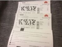 Kylie Minogue x2 concert tickets - Royal Albert Hall Friday 9th December FRONT BLOCK ROW 10!!!!