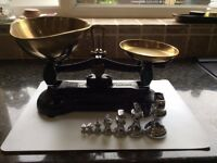 Old fashioned kitchen scales for sale. VGC