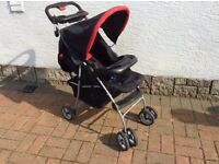 Baby Buggy in very good condition complete with rain cover and foot muff
