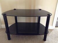 Good quality Black glass to stand with black legs