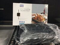 Denby large roasting tray with rack