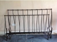 Laura Ashley king sized Metal antique style finished bed. Excellent condition