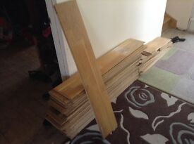 Used oak top layer flooring