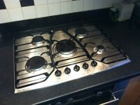 Hotpoint 5 burner integrated gas hob