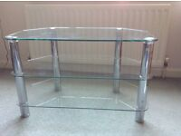 Stunning glass TV table, hardly used