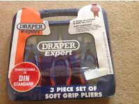 Draper 3 piece plier set