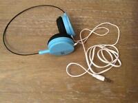 Blue USB Headphones