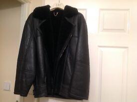 Ladies leather flying jacket