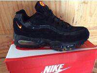 BRAND NEW NIKE AIR MAX 95's / 110's BLACK/YELLOW SIZES 6,7,8,9,10,11