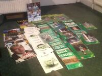 A LARGE COLLECTION OF CELTIC PROGRAMMES ETC.