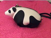 Panda crossbody bag Genuine leather