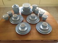 40 pieces of Denby Colonial blue pottery